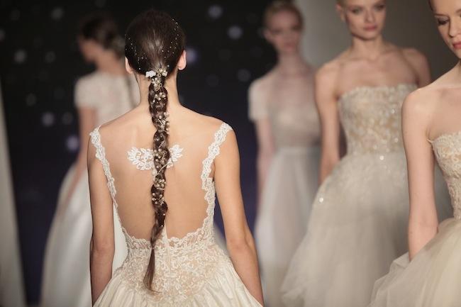 Reem Acra Inspired Bridal Hair